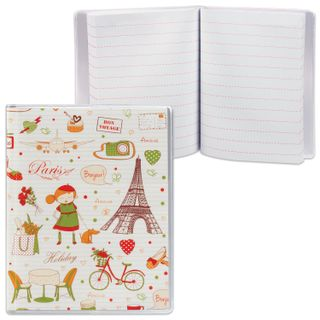 Small FORMAT notebook (80 x 100 mm) A7, 50 sheets, glue, PVC 180 microns, line, 2 pockets, DPS,