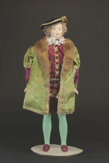 Doll gift porcelain. England. Court costume. Edward VI. 1540-e G.