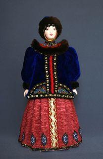 Doll gift porcelain. Boyar in winter attire (styling). 16-18 V. Rus.