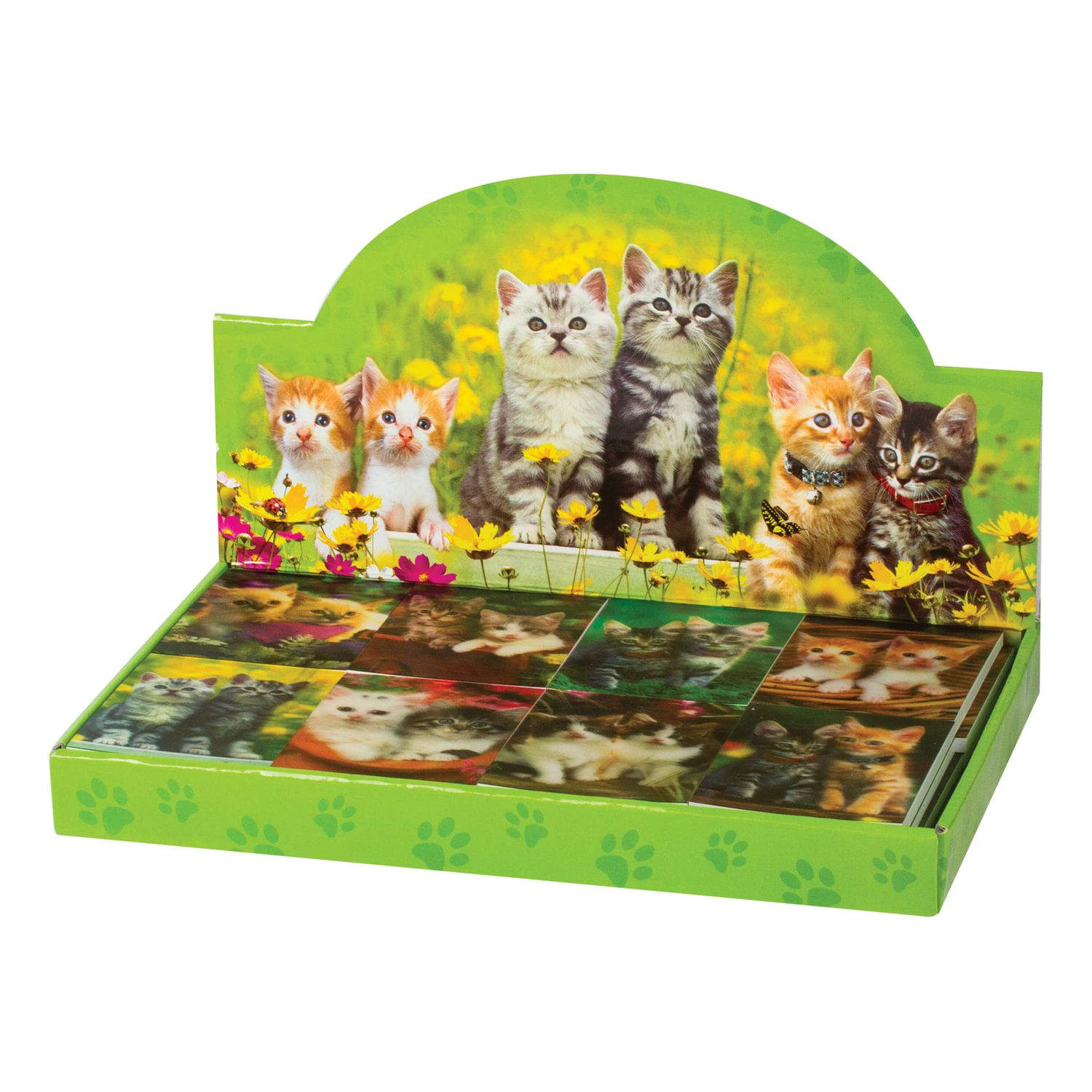 """BRAUBERG / Non-ruled notebook """"Kittens"""" SMALL FORMAT 40 sheets A7, 64x82 mm, gluing, plastic 3D cover, assorted"""