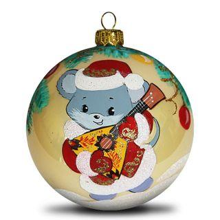 Christmas ball mouse with balalaika