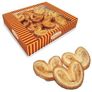 """OZBI FAMILY / Cookies """"Mini-buns"""", ears with poppy seeds and sugar, 500 g, corrugated box"""