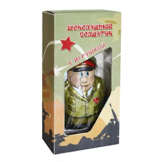 "Chocolate figure ""Soldier"" with a surprise in a gift box 35 g"