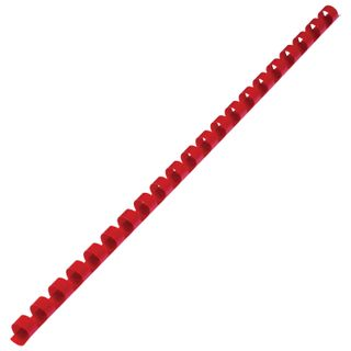 Plastic springs for binding, SET 100 pcs., 10 mm (for stitching 41-55 l.), Red, BRAUBERG