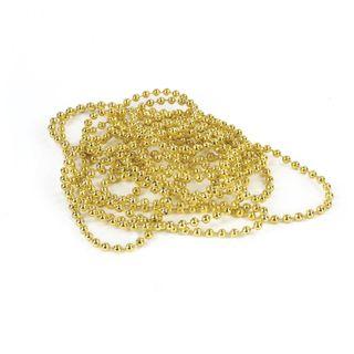 GOLDEN TALE / Christmas tree beads diameter 4 mm, length 2.7 m, golden