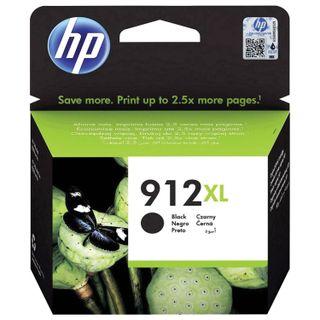HP Inkjet Cartridge (3YL84AE) for HP OfficeJet Pro 8023, # 912XL Black, 825-page Yield, Original