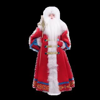 Toy under the Christmas tree Santa Claus in red coat boyar, porcelain, handmade 28 cm