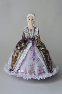 Porcelain doll 'Maid of honor of the 18th century' cake