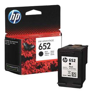 HP Deskjet 2135/3635/3835/4535/4675/1115 Black Inkjet Cartridge (F6V25AE), # 652, Original, 360 pages.