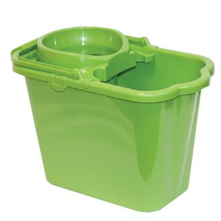 IDEA / Plastic bucket with extraction (mesh), green color 9.5 l