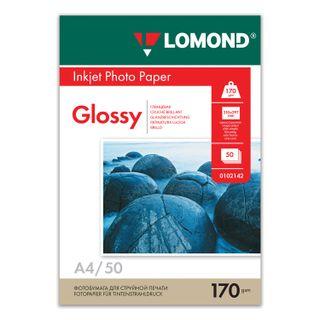 Photo paper inkjet, A4, 170 g/m2, 50 sheets, single-sided glossy LOMOND