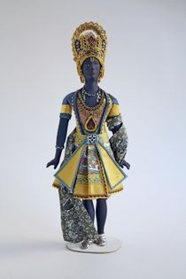 Doll gift. Costume for the male lead in the ballet 'the Blue God' on the sketches of Bakst