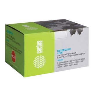 Toner CACTUS (CS-EXV21C) for CANON iR-C2380 / 2880/3080/3380/3580, cyan, yield 14000 pages.