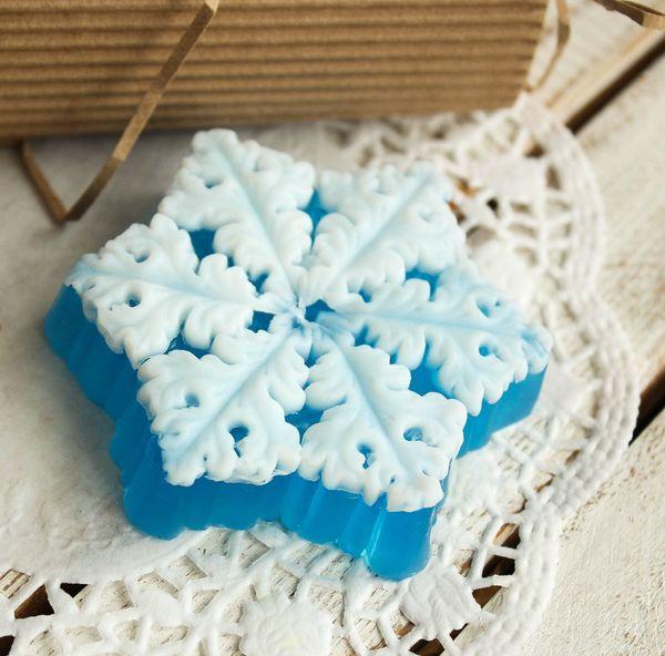 Handmade soap Figured Snowflake
