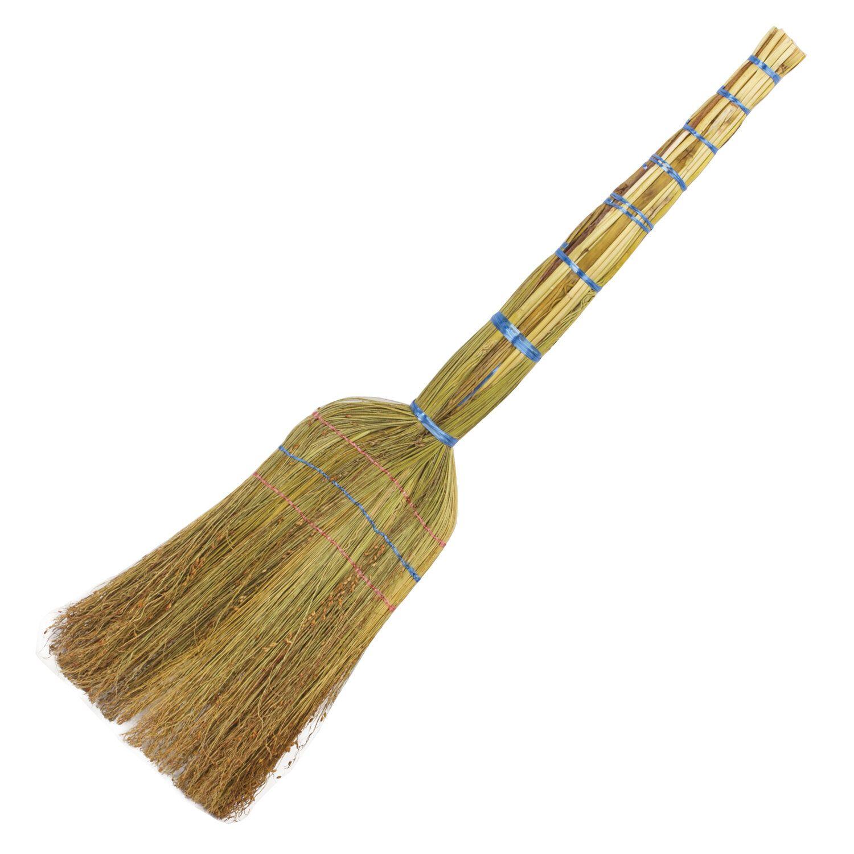 "LYUBASHA / Sorghum broom 3-stitched ""STANDARD"", 320-340 g, panicle width 27-30 cm, length 79 cm"