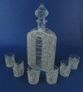 Kazakovskaya Filigree / 'Kremlin' set for wine (damask, 6 glasses - winter patterns) - view 1