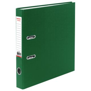 Folder-Registrar with FISMA arch mechanism, PVC coating, 50 mm, green