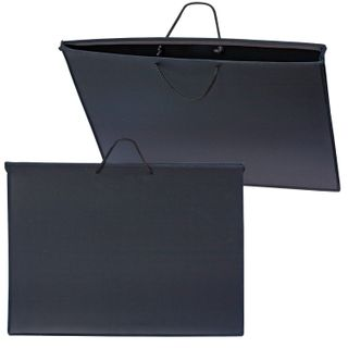 Folder of paintings and drawings A2, 640х470 mm, BEE, with handles, plastic, black