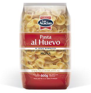 Pasta with wheat flour, egg and beta-carotene.