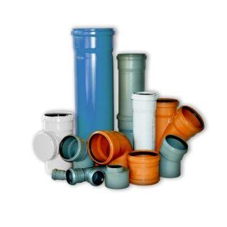 Sewerage pipes and fittings made of polypropylene