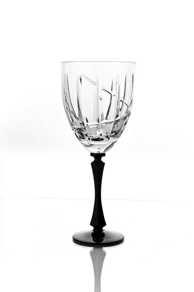 """Set of crystal wine glasses """"Vertical"""" 6 pieces"""
