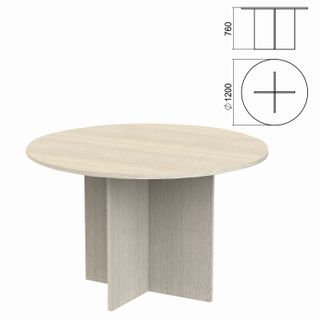 Argo Circle Negotiating Table, 1200x1200x760 mm, ash shimo