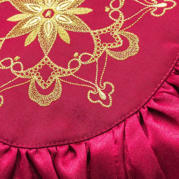 Cushion divan 'Light of love' Burgundy with gold embroidery