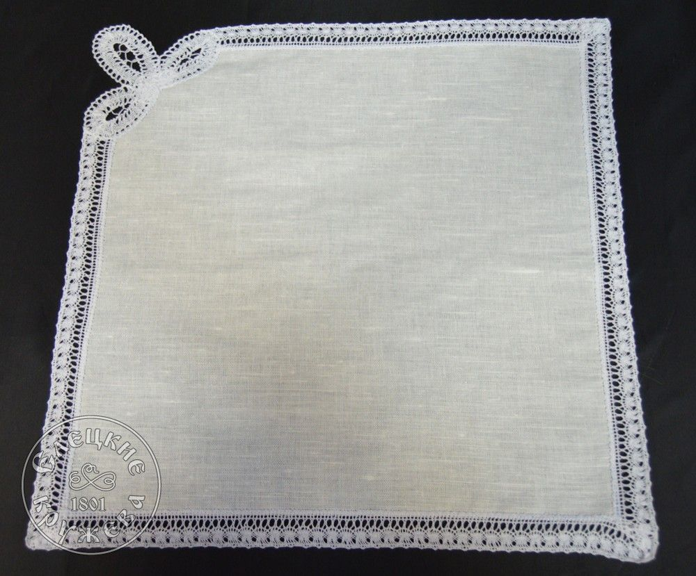 Yelets lace / Linen table napkin С1572