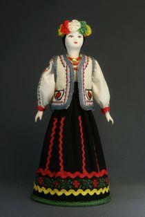 Doll gift porcelain. Moldova. National women's festive (wedding) suit.