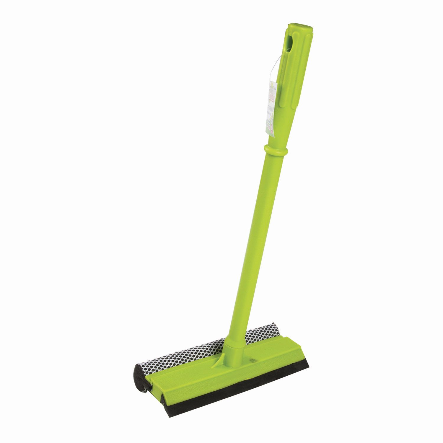 LYUBASHA / Glass washer plastic handle 40 cm, working part 20 cm (screed, sponge, handle)