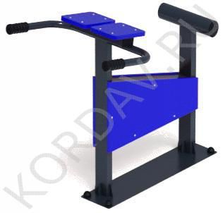 Hyperextension - outdoor simulator for inflating the muscles of the forearm