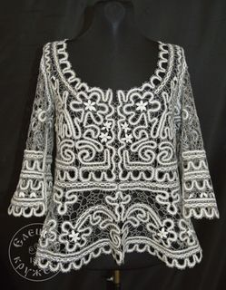 Women's chiffon blouse lace С1824