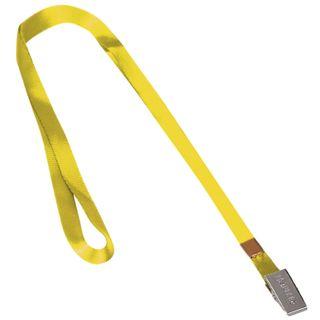 The lanyard, 45 cm, metal clip, YELLOW, BRAUBERG