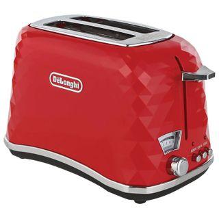Тостер DELONGHI CTJ2103. R, 900 w, 2 toast, defrost, heating, bun grille