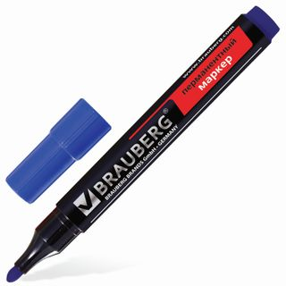 The marker is a permanent (indelible) BRAUBERG