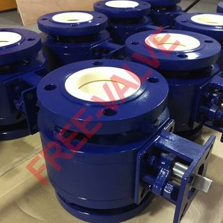 Ceramic Lined O Type Ball Valve,Pneumatic Actuator Flange Type Adjustable Zirconium Ceramic Ball Valve