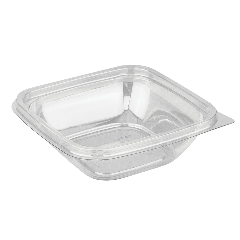 STYROLPLAST / Square disposable container, 250 ml, WITHOUT LID, 126х126х38.5 mm, PET, transparent (lid 604319)