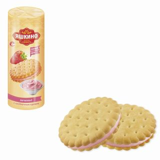 """YASHKINO / Cookies """"With strawberry cream"""", lingering, 182 g"""
