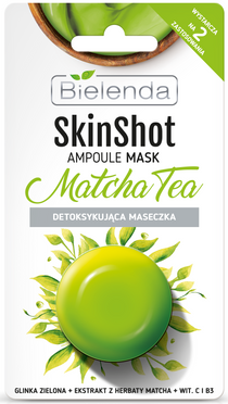 Detoxifying mask, mint tea, BIELENDA SKIN SHOT , 8 g