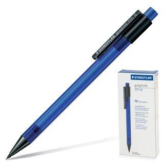 Pencil mechanical STAEDTLER (Germany) Graphite, body dark blue, eraser, 0.7 mm