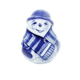 The sculpture Snowman small No. 1 2 grade, Gzhel Porcelain factory