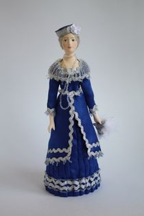 Doll gift. Aristocratic women's evening suit, early 20th century. Saint Petersburg, Russia.