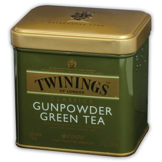 TWININGS / Green tea Gunpowder green, iron can 100 g