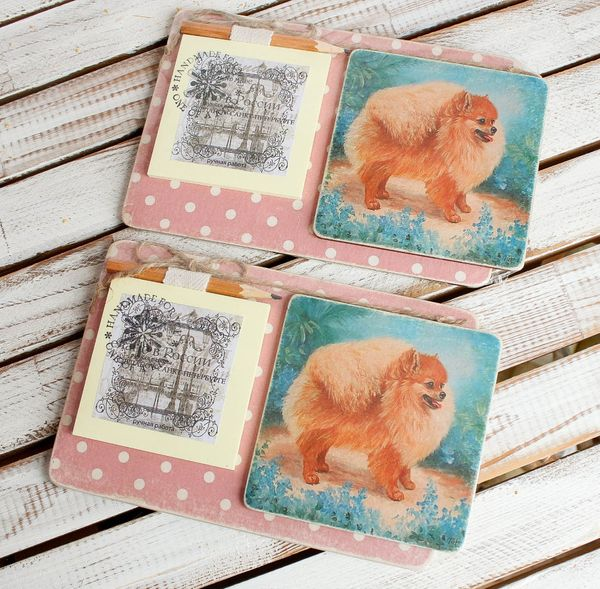 Large souvenir magnet with a dog - Ginger