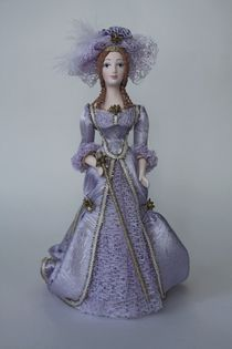 Doll gift porcelain. The lady with the cane. 2nd half of 18th century Petersburg
