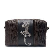 Leather makeup bag 'Lizard'