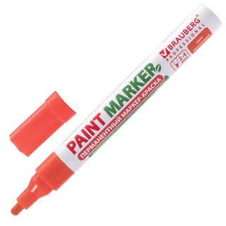 Marker-paint lacquer 4 mm, ORANGE, WITHOUT XYLENE (unscented), aluminum, BRAUBERG PROFESSIONAL
