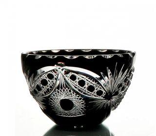 """Crystal vase for sweets """"Serenade"""" black"""