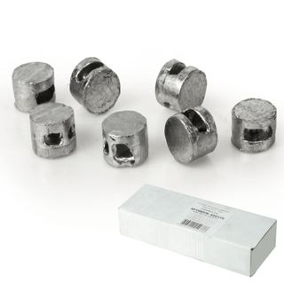 Lead seals, diameter 10 mm, height 7 mm, packing 2 kg