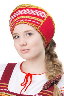 "Female Russian national headdress - kokoshnik ""dawn"""